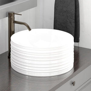 Ashby Vitreous China Vessel Sink - Decorative Exterior