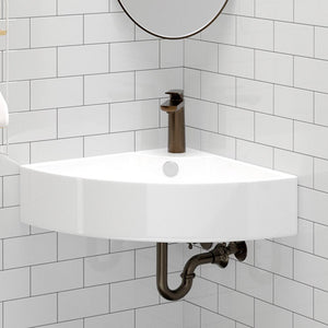 Aysel Vitreous China Corner Wall-Mount Sink