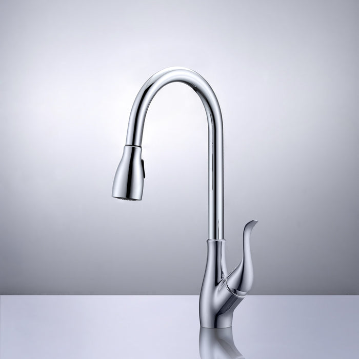 Barner Single-Hole Pull-Out Kitchen Faucet