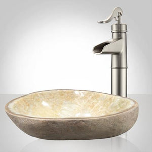 Bouse Yellow Onyx Vessel Sink