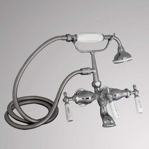British Telephone Wall-Mount Tub Faucet with Hand Shower