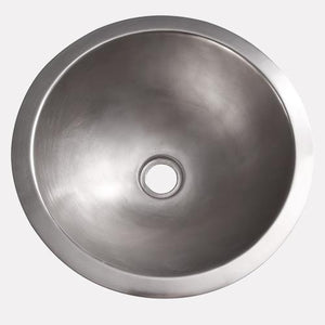 Byers Smooth Brushed Nickel-Plated Copper Sink