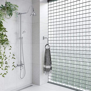 Campbell Exposed Pipe Shower with Hand Shower