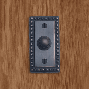 Cast Brass Beaded Rectangular Doorbell