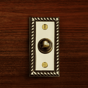 Cast Brass Rope Rectangular Doorbell