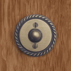 Cast Brass Rope Round Doorbell
