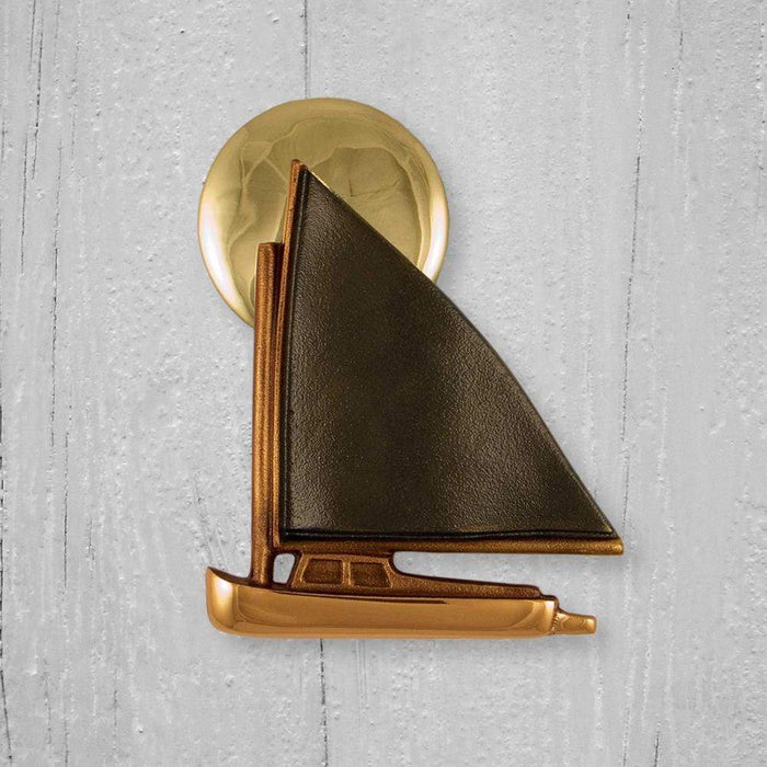 Catboat at Sunset Door Knocker