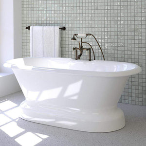 Ciona Cast Iron Double-Ended Tub with Pedestal