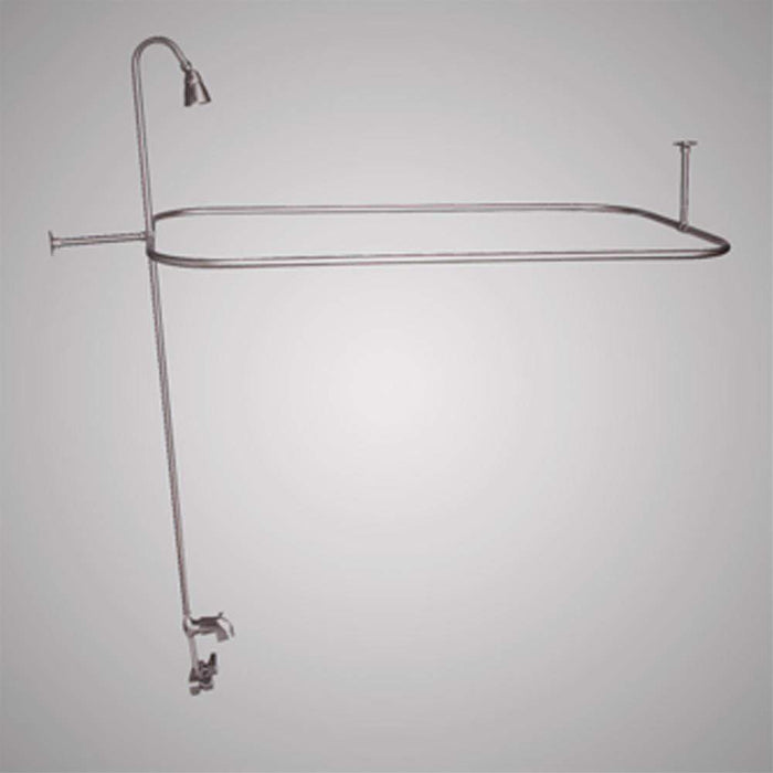 Code-Compliant Tub Faucet with Shower Rod, Riser and Shower Head