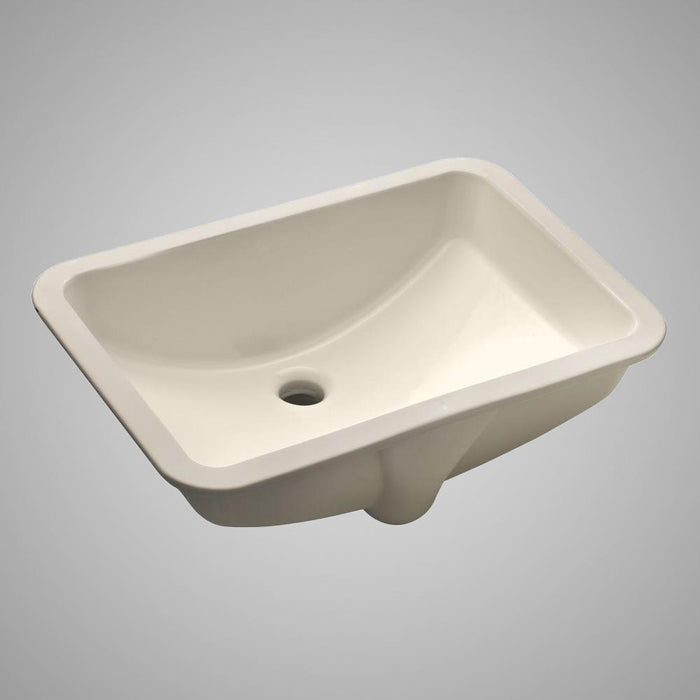 Colchester Vitreous China Rectangular Undermount Sink - Bisque