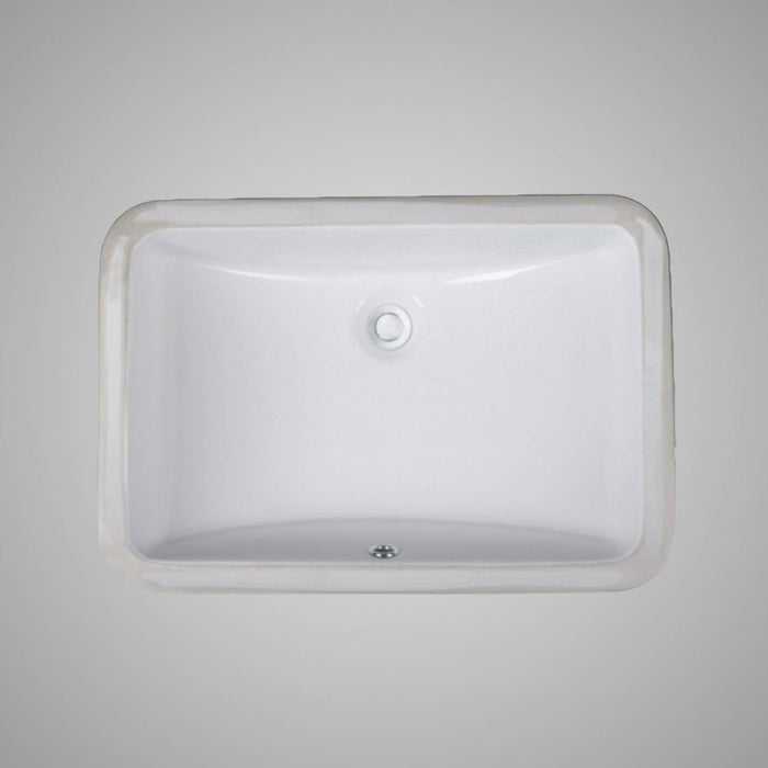 Colchester Vitreous China Rectangular Undermount Sink - White