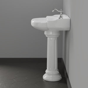 Dawson 200 Vitreous China Pedestal Sink