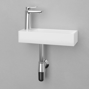 Delma Vitreous China Wall-Mount Bathroom Sink - Left Side Faucet Drilling