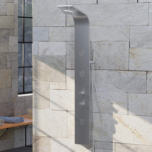 Digby Thermostatic Stainless Steel Shower Panel with Hand Shower