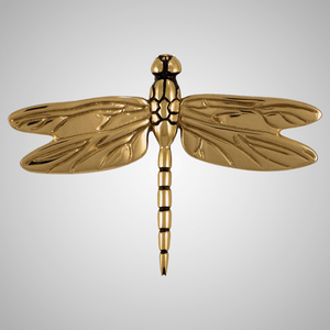 Dragonfly in Flight Bronze Door Knocker
