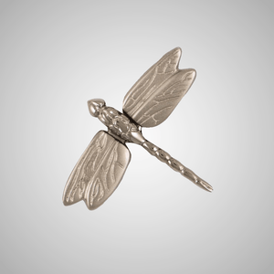 Dragonfly in Flight Doorbell Ringer - Brass