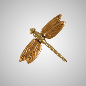 Dragonfly in Flight Doorbell Ringer - Bronze