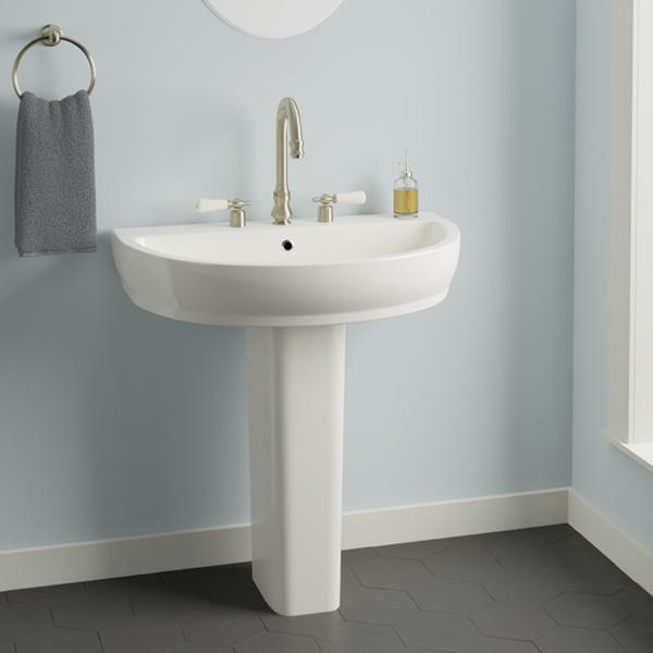 Dublin 200 Vitreous China Pedestal Sink - Magnus Home Products
