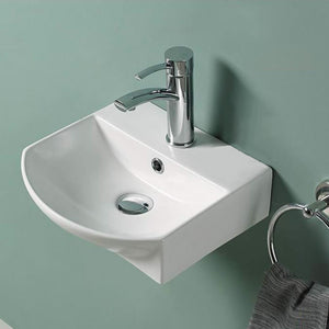 Duena Vitreous China Wall-Mount Bathroom Sink