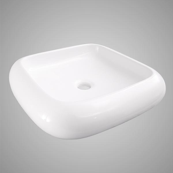 Durand Vitreous China Square Vessel Sink