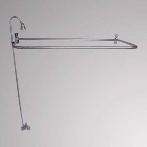 Economy-Style Diverter Tub Faucet with Sidewall Shower Rod, Riser and Shower Head