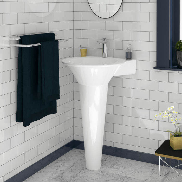 Effie Vitreous China Pedestal Sink