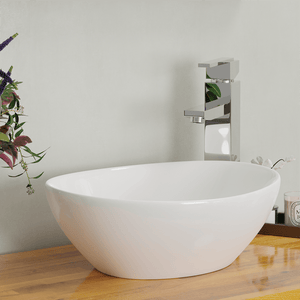 Eleva Vitreous China Oval Vessel Sink