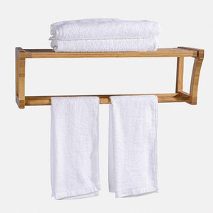 Elko Bamboo Wall-Mount Towel Rack