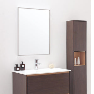 Emida Stainless Steel Framed Vanity Mirror