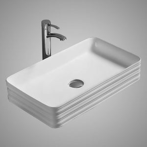Erla Vitreous China Vessel Sink - Decorative Exterior