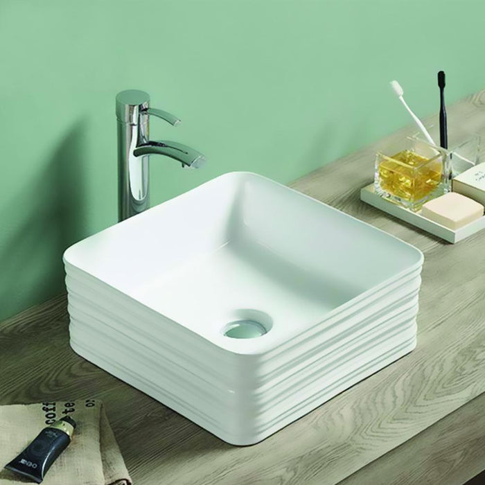 Erlina Vitreous China Vessel Sink - Decorative Exterior
