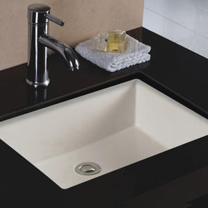 Errol Vitreous China Rectangular Undermount Sink - Bisque