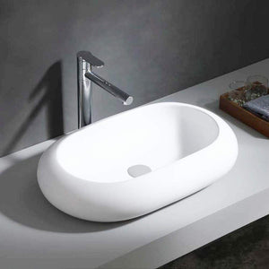 Esko Vitreous China Oval Vessel Sink