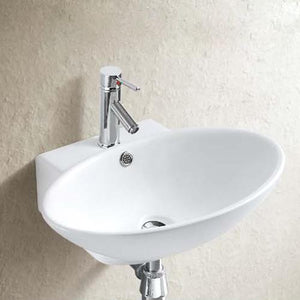 Evart Vitreous China Wall-Mount Bathroom Sink