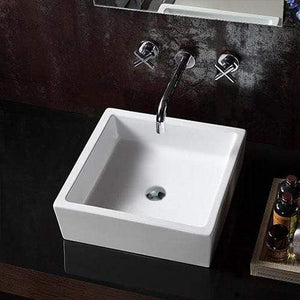 Eveleth Vitreous China Square Vessel Sink