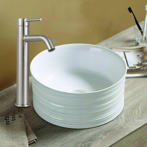 Ezra Vitreous China Vessel Sink - Decorative Exterior