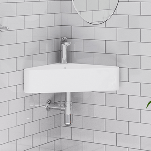 Fana Vitreous China Corner Wall-Mount Bathroom Sink