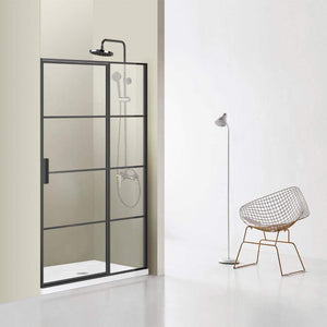 "Fell 48"" W x 76"" H Pivot Shower Enclosure in Matt Black"