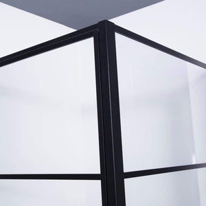 "Fell 48"" W x 76"" H Rectangle Pivot Shower Enclosure in Matt Black"