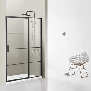 "Fell 60"" W x 76"" H Pivot Shower Enclosure in Matt Black"