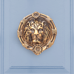 Ferocious Lion Door Knocker