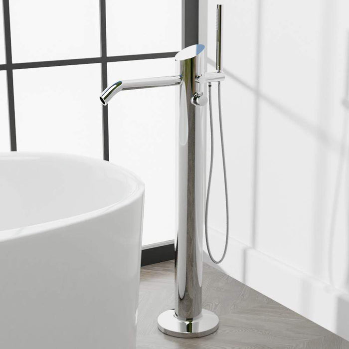 Fleming Thermostatic Freestanding Tub Faucet with Hand Shower