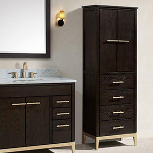 Forney Linen Storage Cabinet - Dark Chocolate