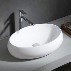Fosston Vitreous China Oval Vessel Sink