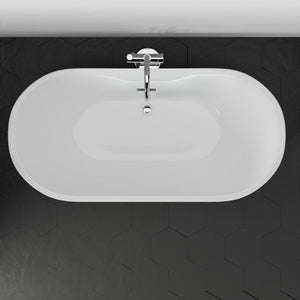 Foster Acrylic Freestanding Tub With Integral Drain