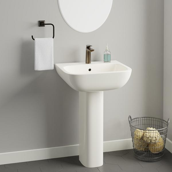 Galena 200 Vitreous China Pedestal Sink