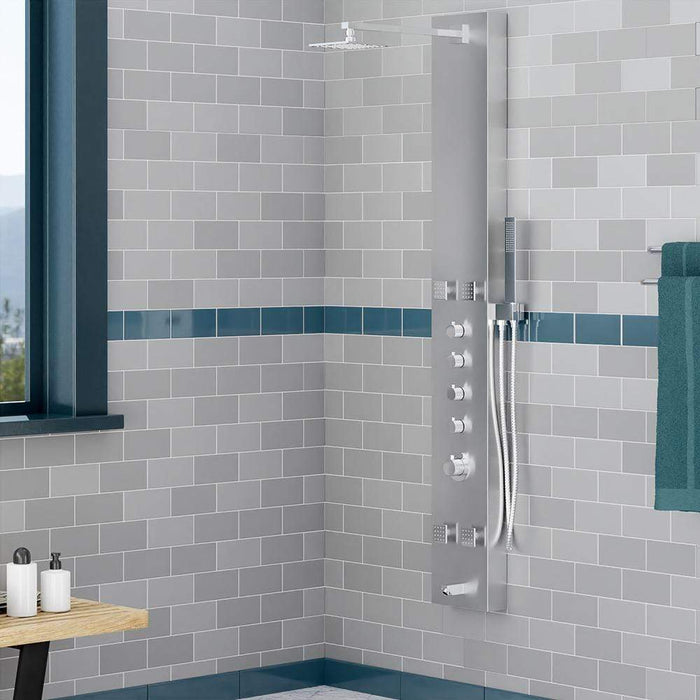 Glencoe Thermostatic Stainless Steel Shower Panel with Hand Shower