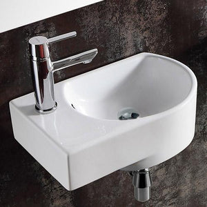 Glidden Vitreous China Wall-Mount Bathroom Sink - Left Side Faucet Drilling