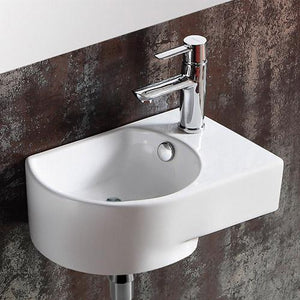 Glidden Vitreous China Wall-Mount Bathroom Sink - Right Side Faucet Drilling