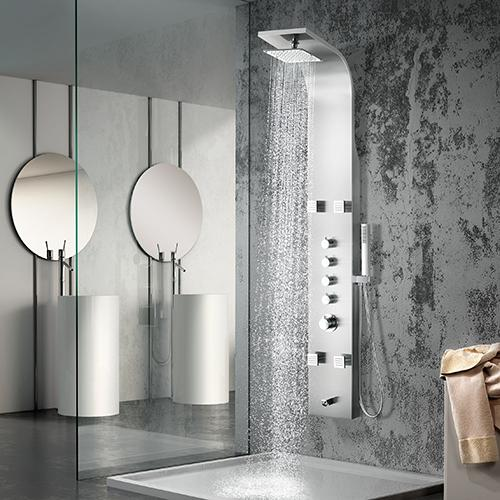 Golva Thermostatic Stainless Steel Shower Panel with Hand Shower
